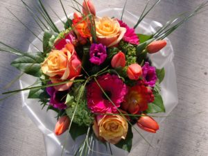 Bouquet of Hot pink and orange