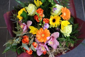 Bokay of colourful flowers