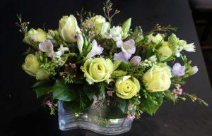 Creative display of flowers