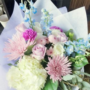 Several hand tied flowers for wedding