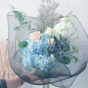 Flowers in mesh